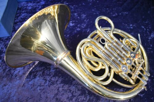 German-Made Alexander 103 Copy Double French Horn with Case and Mouthpiece