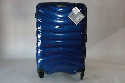 "Samsonite Firelite 20"" deep blue spinner suitcase luggage NWT raspy zipper"