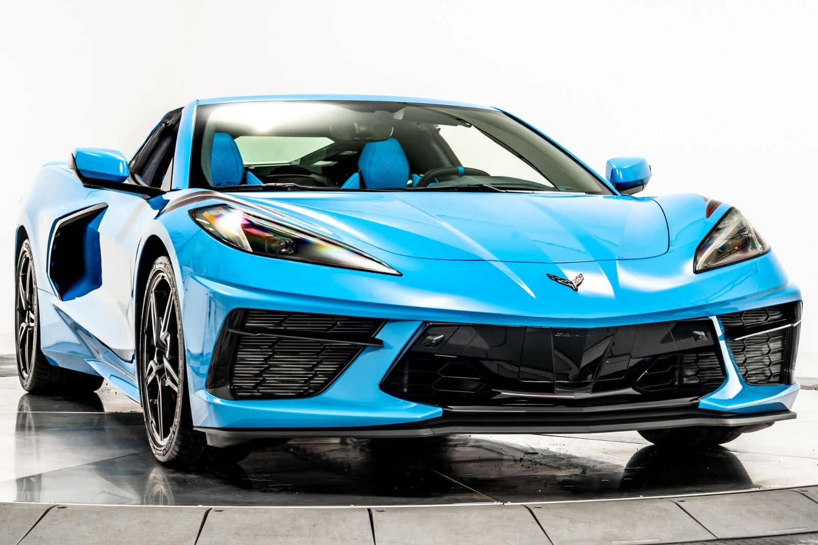 2021 Blue Chevrolet Corvette  3LT   C7 Corvette Photo 2