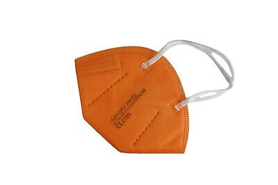 5 Stück • FFP2-Maske ORANGE (bunt) • mit Schaumstoff-Nasenauflage • PREMIUM