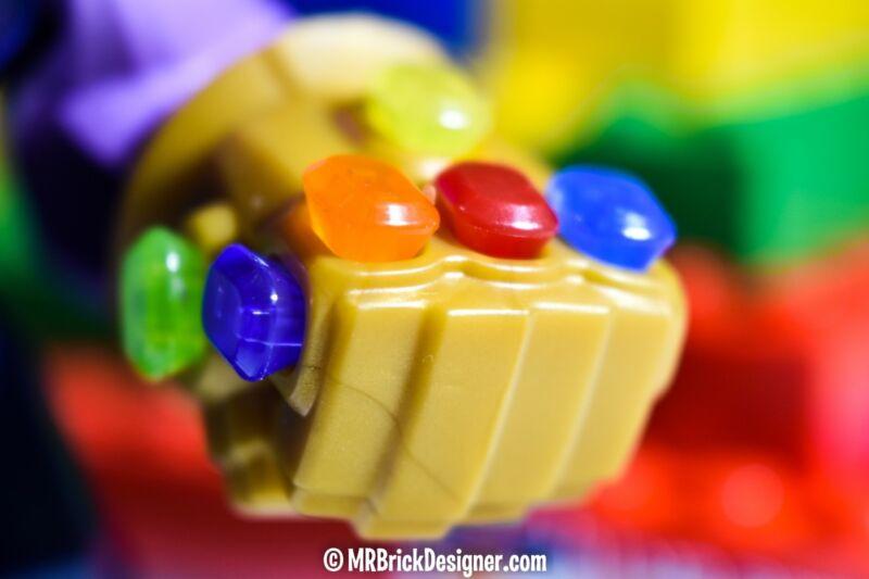 LEGO THANOS GENUINE BIG FIGURE 76107 INC INFINITY STONES  GUANTLET AVENGERS