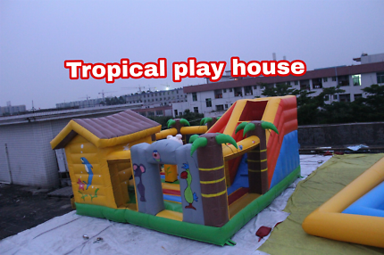 Tropical play house jumping castle hire