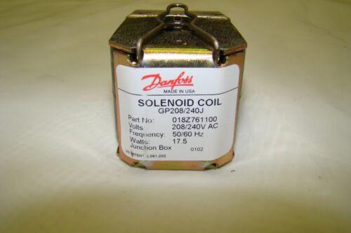 018Z761100 Danfoss Solenoid Coil with Junction Box, 208/240V (GP208/240J)