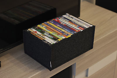 Stilvolle Aufbewahrungsbox aus Filz für DVD´s Filme und DVD Spiele