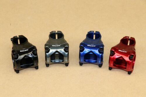 BOX Cusp Mountain Bike Stem 45, 55 and 65mm Bar 35 mm, 1 1/8, Blk, Gry, Blu, Rd
