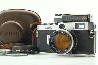 【NEAR MINT++ w/ CASE】 Canon P Rangefinder Camera w/ 50mm f/1.4 Lens From JAPAN