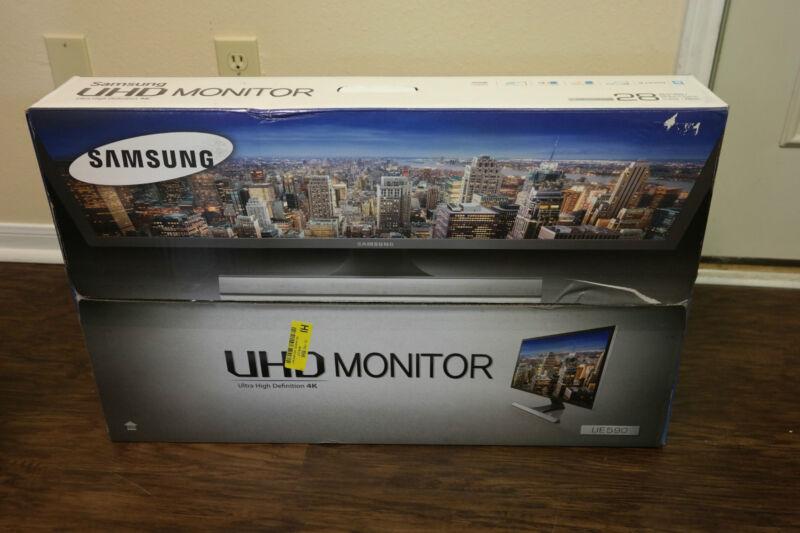 "Samsung UD590 Series 28"" LED 4K UHD Monitor Black U28E590D"