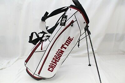 New Bridgestone NCAA Collegiate Stand Golf Bag - University Of Alabama (White)