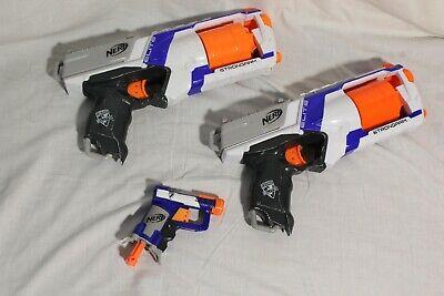 Nerf Elite Strongarm x2 + Jolt Toy Gun White Blue Orange Bundle Blaster Job Lot