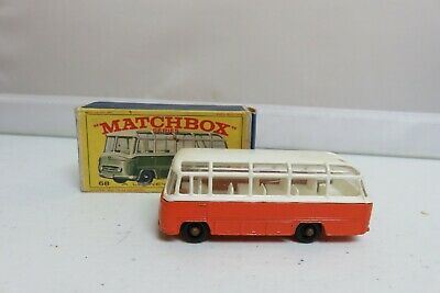 Vintage Lesney Matchbox #68 Mercedes Coach Bus New Model Car Original w/ Box lot