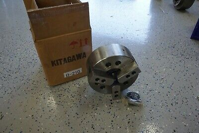 New Kitagawa Lathe Chuck B-210 10 3 Jaw Power Chuck A2-8 Samchully Hs-10