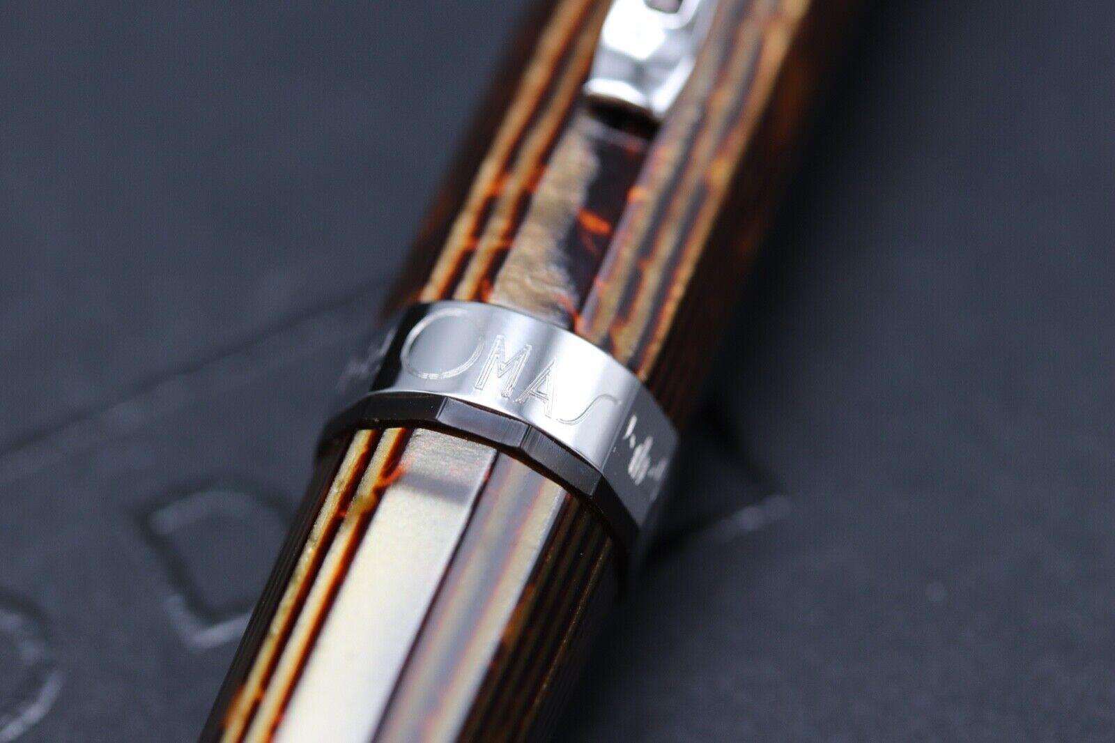 Omas Milord Arco Bronze Celluloid Rhodium Trim Ballpoint Pen 2