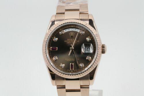 Rolex Day-date 36 118235 Chocolate Diamond & Ruby Dial