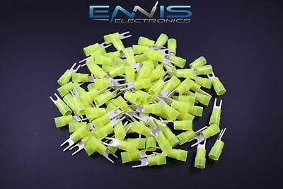 10-12 Gauge Nylon Spade 6 Connector 100 Pk Crimp Terminal Awg Electrical