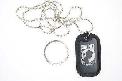 POW * MIA Military Dog Tag Necklace / Keychain