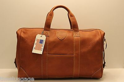 "Leather 20"" Outing Bag Duffel Carry-On Duffle Gym Bag, NEW, MADE IN THE USA"