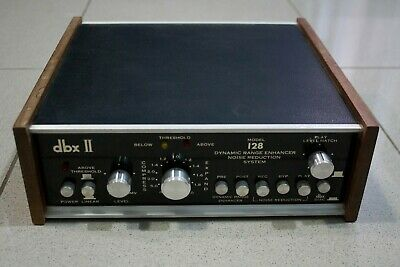 DBX 128 II Dynamic Range Enhancer Noise Reduction System For Parts/As Is