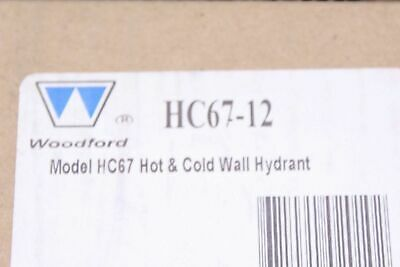 Woodford HC67-12 Model HC67 Hot & Cold Wall Hydrant Chrome