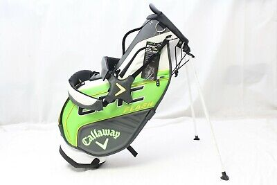 New Callaway Epic Flash Staff Stand Carry Golf Bag Green White Charcoal Bag  White Carrying Bag