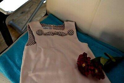 Robe dior 4  ans rose noeuds devant beige avec poids dior bas papilles colissimo