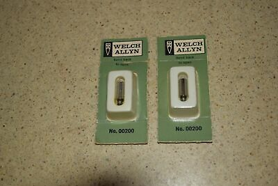 Welch Allyn No 00200 Vacuum Lamp Bulbs - 2 Total -newoem Cc