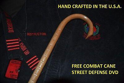 BLACK BELT COMBAT CANE- SELF DEFENSE- MARTIAL ARTS-MADE IN THE USA  OAK CANE