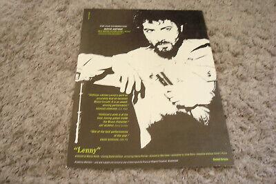 LENNY 1974 Oscar ad with Dustin Hoffman as Lenny Bruce for Best Actor on