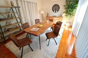 High End PU Brown Dining Chairs $160 each