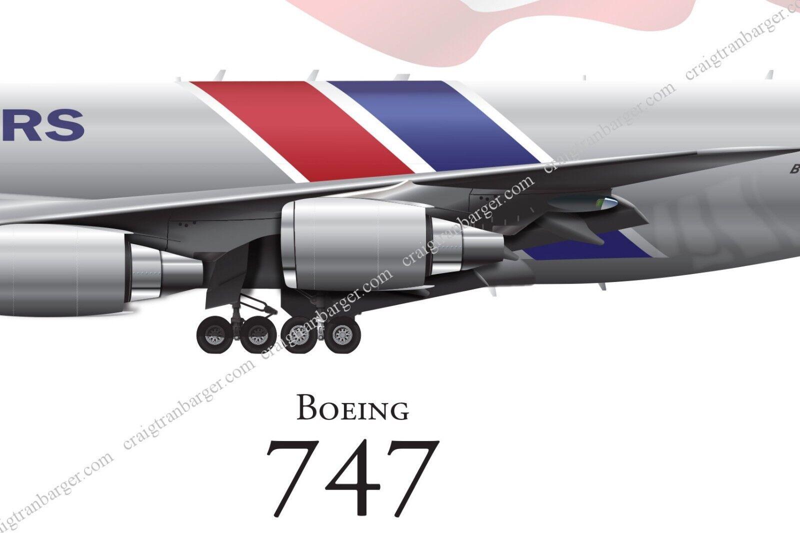 Boeing 747-SP aircraft round sticker