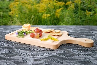Maple wood Paddle Cutting Board-Face Grain Serving platter 16x8x3/4''