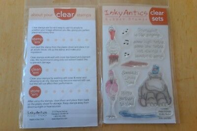 Inky Antics Clear Rubber Stamp Set - Water - Animals Rubber Stamp Set