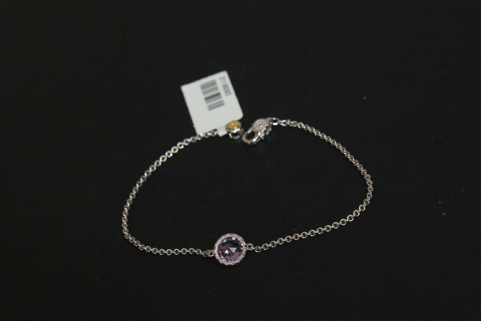 Tacori Solitaire Cushion Gem Bracelet with Amethyst Women's .925