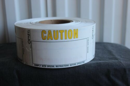 Roll of Caution Tags NEW
