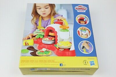 Play-Doh Kitchen Creations Stamp n Top Pizza brick oven 5 colors Nice Gift