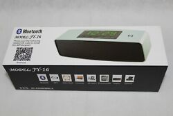 Portable Wireless Bluetooth Model # JY-16 Music Player & Alarm Clock Android