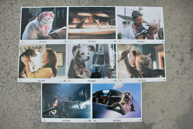 CATS & DOGS THEATRICAL RELEASE LOBBY CARDS, SET OF 8, SEAN HAYES AS MR. TINKLES