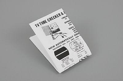 Morgan-powell Handheld Tv Tube Checker Appliance Tester Instruction Sheet