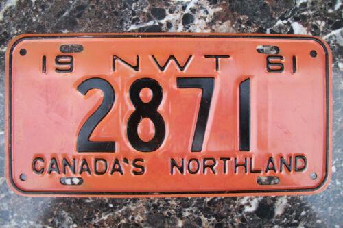 1961 NORTHWEST TERRITORY LICENSE PLATE, NWT, CANADA