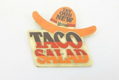 Vintage Staff Authentic Wendys Lapel Pin Wendy Taco Salad Advertising Pin A2