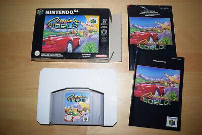 Nintendo 64 *Cruis'n World* N64 OVP CiB Mint mit Anleitung - Cruisn USA Exotica