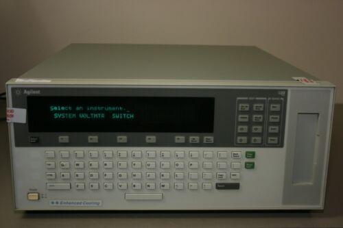 HP Agilent E1301B B-Size VXI unit with qty 2 E1364A, E1352A, E1366A and E1326A
