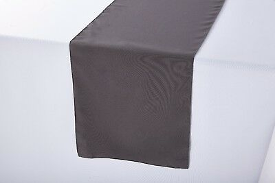 14 x 108 inch Polyester Table Runner Charcoal -