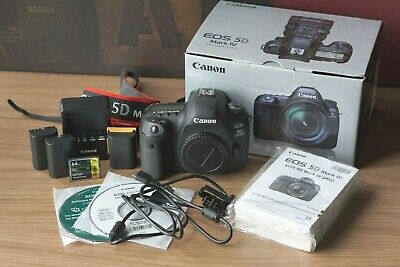 Canon EOS 5D Mark IV 30.4MP DSLR Pro Camera - Body + 2 Batteries + 64GB CF WOW!