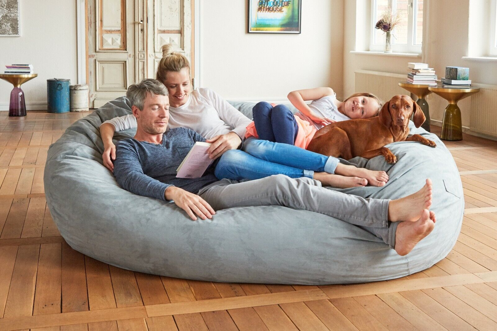 Big Cozy Bean Bag Chair Lazy Relax Seat Sofa Couch Media Lounger Faux Suede Sack