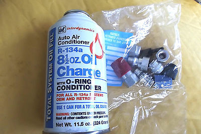 8.5 OZ ID A/C OIL CHARGE R134A SYSTEMS +RETROFIT KIT WITH O RING CONDITIONER
