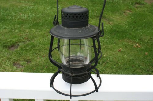 "Vintage Keystone ""The Casey"" PRR Railroad Lantern Kerosene Embossed top"