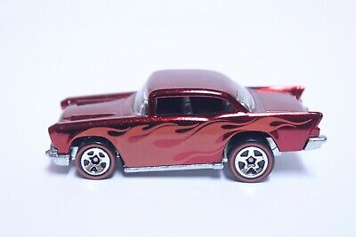 HOT WHEELS '57 CHEVY BEL AIR VERY NICE CLASSICS SERIES RED W/ FLAMES