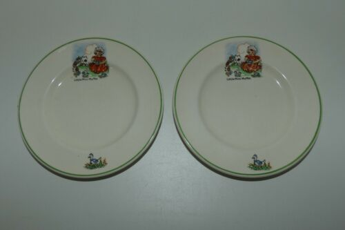 2 Bilton England Little Miss Muffet biscuit plates | Childrens Nursery Ware
