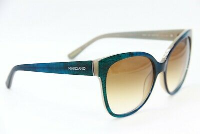 NEW GUESS BY MARCIANO GM 727 92F BLUE GREEN AUTHENTIC SUNGLASSES (Guess Sunglasses By Marciano)