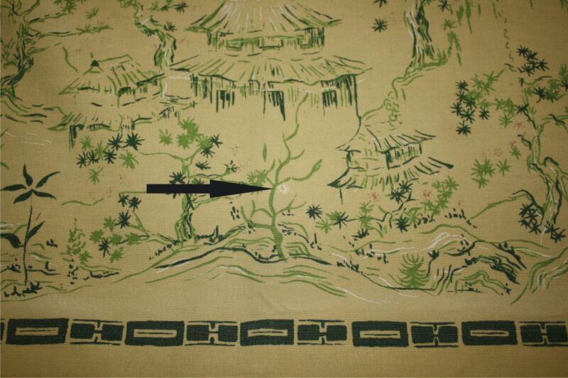 Vintage Vat Dyed California Hand Prints Large tablecloth oriental landscape